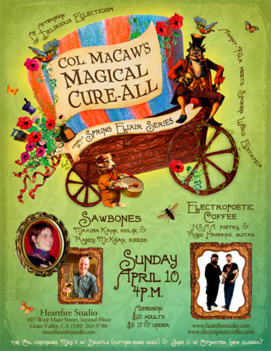 Poster for Col. MaCaw's Magical Cure-All series