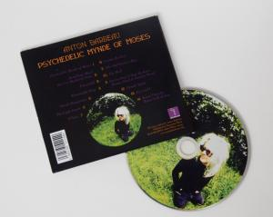 "Anton Barbeau, ""Psychedelic Mynde of Moses"" back cover and disc"